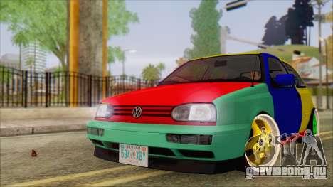 Volkswagen Golf Mk3 Harlequin Design для GTA San Andreas