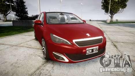 Peugeot 308 2015 для GTA 4