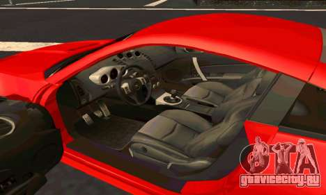 Nissan 350Z Tune для GTA San Andreas вид изнутри