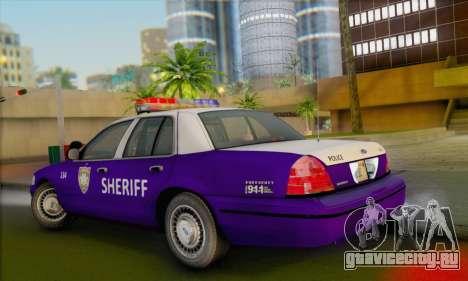 Ford Crown Victoria 1999 Walking Dead для GTA San Andreas вид слева