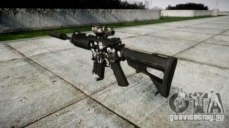 Автомат P416 ACOG silencer PJ3 target для GTA 4 второй скриншот