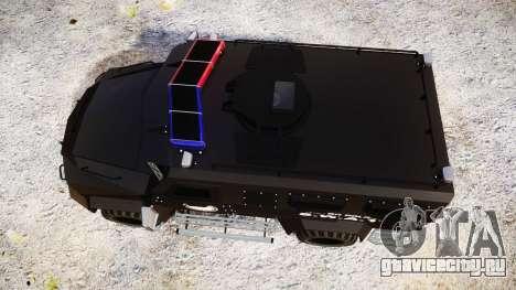 SWAT Van Metro Police [ELS] для GTA 4 вид справа