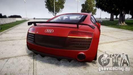 Audi R8 LMX 2015 [EPM] [Update] для GTA 4 вид сзади слева