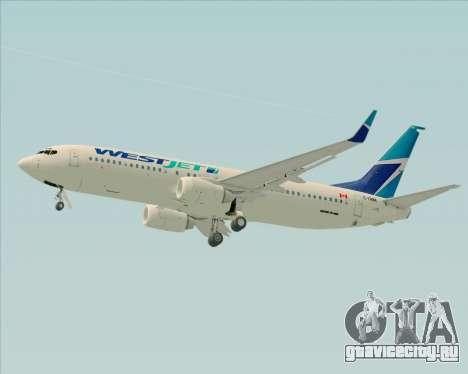 Boeing 737-800 WestJet Airlines для GTA San Andreas вид сверху