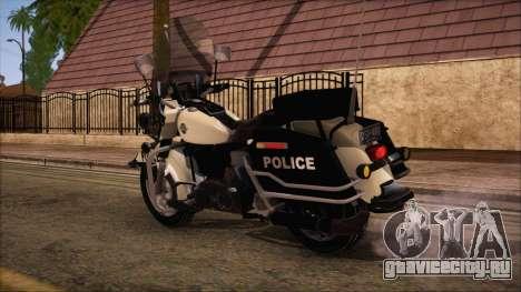 GTA 5 Police Bike для GTA San Andreas вид слева
