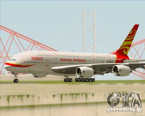 Airbus A380-800 Hainan Airlines для GTA San Andreas вид слева