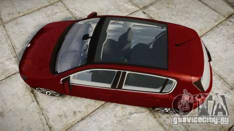 Peugeot 308 2015 для GTA 4 вид справа