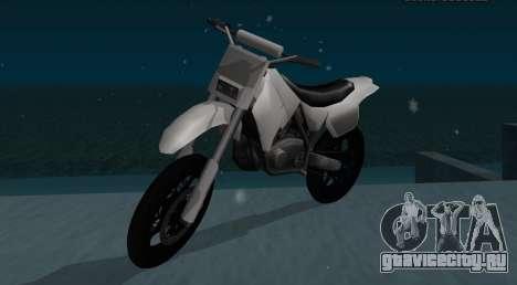 Sanchez SuperMoto для GTA San Andreas вид сзади слева