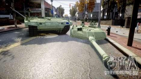 Leopard 2A7 EU Green для GTA 4 вид сзади