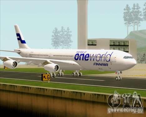 Airbus A340-300 Finnair (Oneworld Livery) для GTA San Andreas вид сверху