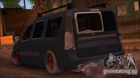 Dacia Logan MCV Tuning для GTA San Andreas вид слева