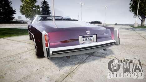 Cadillac Eldorado 1978 для GTA 4 вид сзади слева