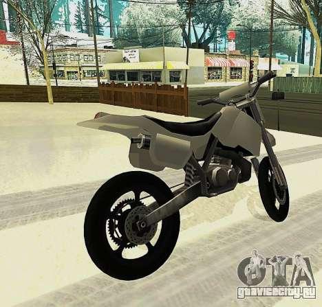 Sanchez SuperMoto для GTA San Andreas вид слева