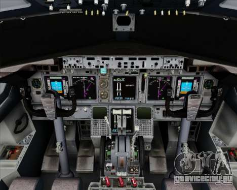 Boeing 737-800 House Colors для GTA San Andreas салон