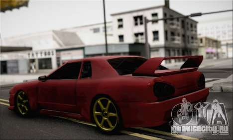 New Elegy Drift Edition для GTA San Andreas вид слева