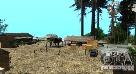 Лагерь Altruist на горе Чилиад для GTA San Andreas седьмой скриншот