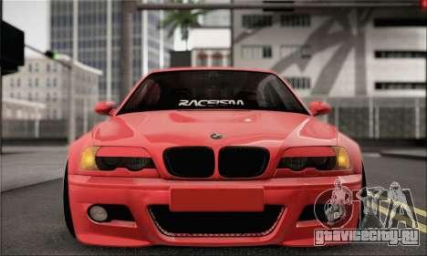 BMW M3 Coupe Tuned для GTA San Andreas вид справа