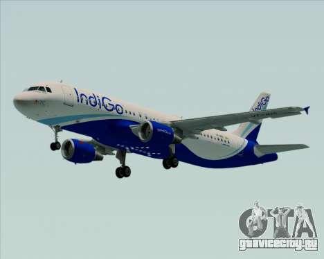 Airbus A320-200 IndiGo для GTA San Andreas вид сзади слева