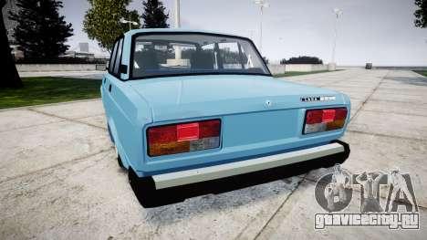ВАЗ-2107 best model для GTA 4 вид сзади слева