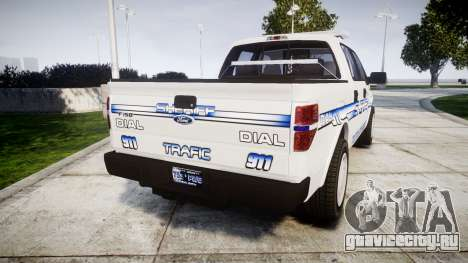 Ford F-150 [ELS] Liberty County Sheriff для GTA 4 вид сзади слева