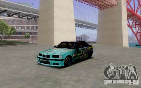 BMW M3 E36 Gorilla Energy Team для GTA San Andreas вид слева