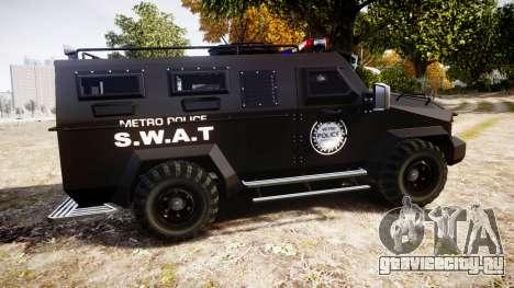SWAT Van Metro Police для GTA 4 вид слева