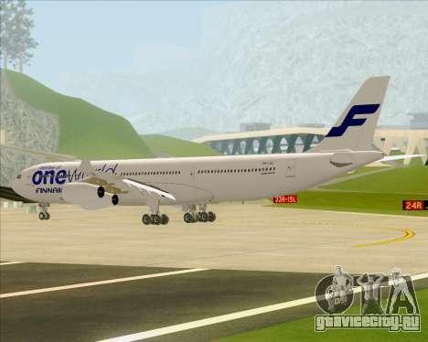 Airbus A340-300 Finnair (Oneworld Livery) для GTA San Andreas вид сзади