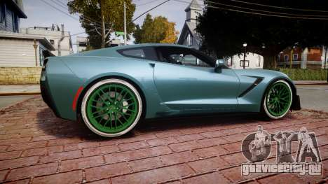 Chevrolet Corvette Z06 2015 TireKHU для GTA 4 вид слева