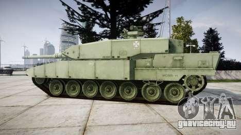 Leopard 2A7 EU Green для GTA 4 вид слева