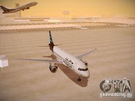 Airbus A320-214 Afriqiyah Airways для GTA San Andreas вид сзади
