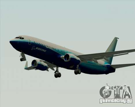 Boeing 737-800 House Colors для GTA San Andreas вид сзади слева