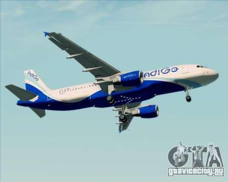 Airbus A320-200 IndiGo для GTA San Andreas вид снизу