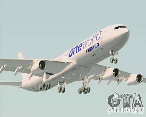 Airbus A340-300 Finnair (Oneworld Livery) для GTA San Andreas двигатель