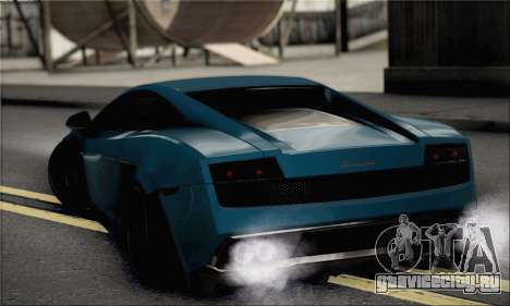 Lamborghini Gallardo Superleggera 2011 для GTA San Andreas вид слева