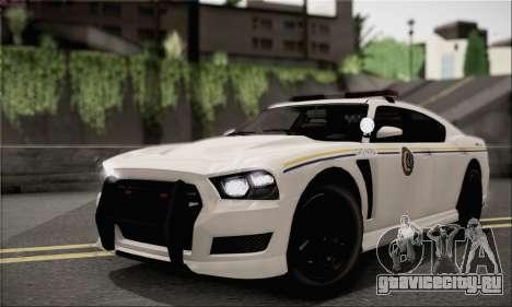 Bravado Buffalo S Police Edition (HQLM) для GTA San Andreas вид сзади