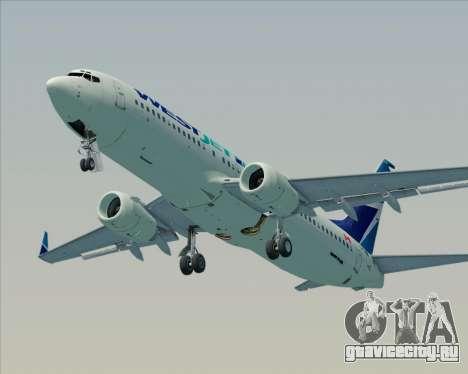 Boeing 737-800 WestJet Airlines для GTA San Andreas двигатель