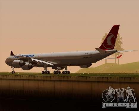 Airbus A340-600 Turkish Cargo для GTA San Andreas колёса