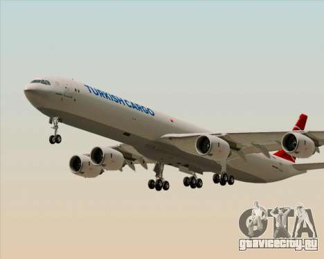 Airbus A340-600 Turkish Cargo для GTA San Andreas вид изнутри