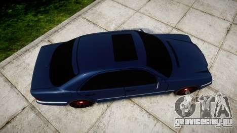Mercedes-Benz W210 E55 2000 AMG Vossen VVS CVT для GTA 4 вид справа