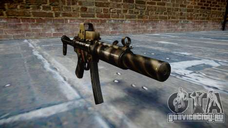 Пистолет-пулемёт MP5SD EOTHS FS c target для GTA 4