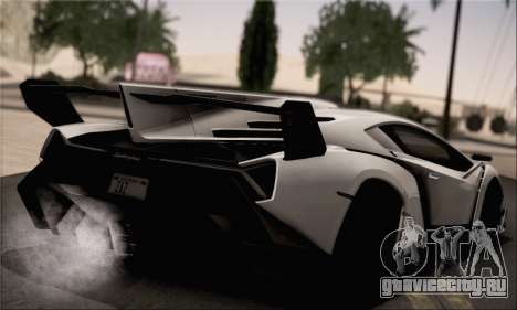 Lamborghini Veneno LP750-4 White Black 2014 для GTA San Andreas вид слева