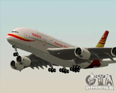 Airbus A380-800 Hainan Airlines для GTA San Andreas вид сзади слева