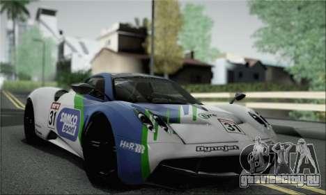 Pagani Huayra TT Ultimate Edition для GTA San Andreas вид изнутри