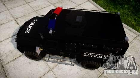 SWAT Van для GTA 4 вид справа