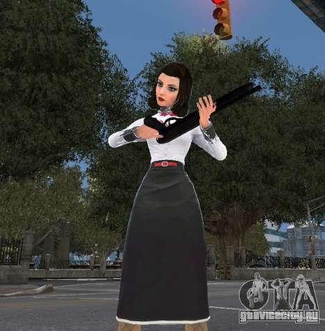 Элизабет из Bioshock Infinite: Burial At Sea для GTA 4 третий скриншот