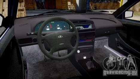ВАЗ-2114 Lada Samara 2014 для GTA 4 вид изнутри