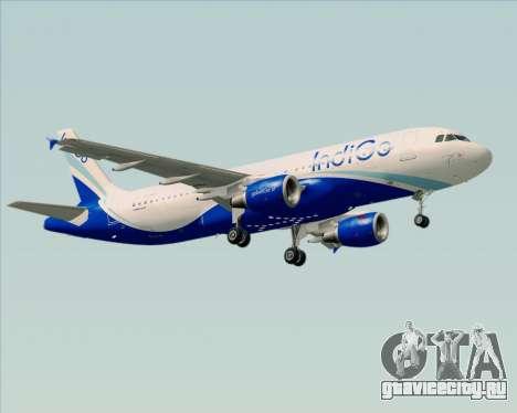 Airbus A320-200 IndiGo для GTA San Andreas колёса