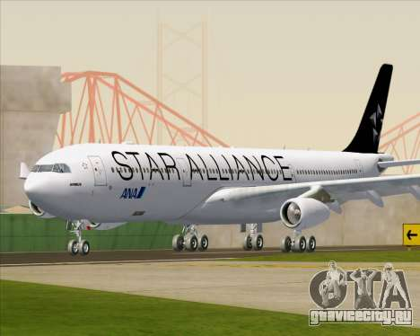 Airbus A340-300 All Nippon Airways (ANA) для GTA San Andreas вид слева