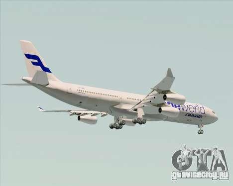 Airbus A340-300 Finnair (Oneworld Livery) для GTA San Andreas вид сбоку