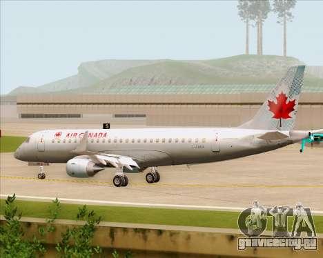 Embraer E-190 Air Canada для GTA San Andreas вид сзади